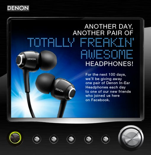 Denon Freakin' Awesome Headphone Giveaway