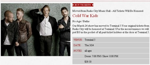 Cold War Kids at Terminal 5