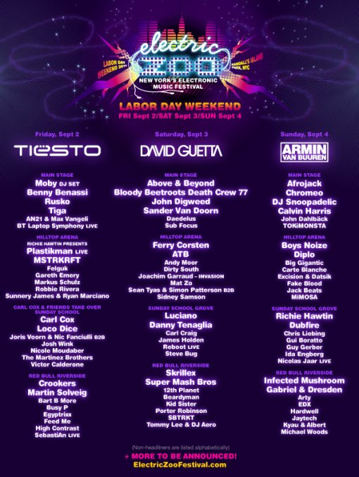 Electric Zoo Lineup