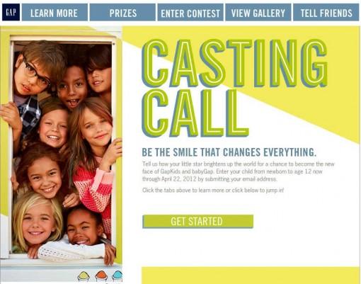 Gap 2012 Casting Call