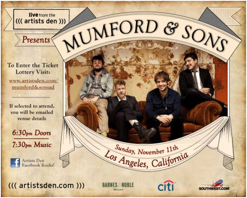 Mumford & Sons Live at The Artists Den