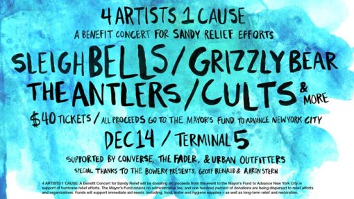 4 Artists 1 Cause Hurricane Sandy Benefit