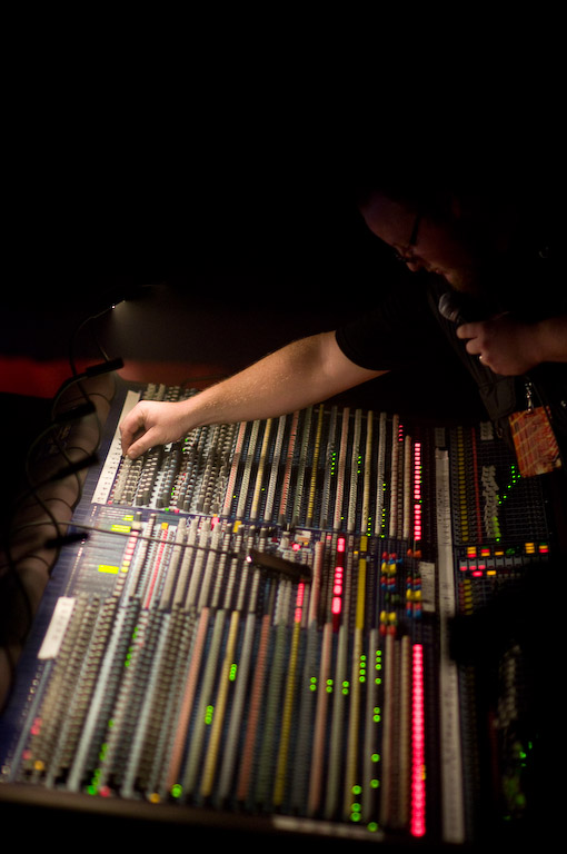 Mixing board at Webster Hall
