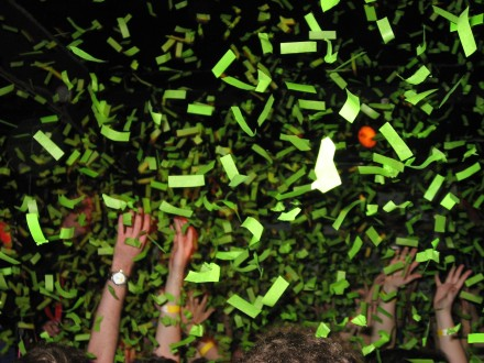 Confetti at I'm From Barcelona