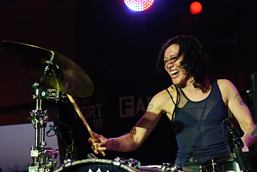 Matt and Kim at The FADER Fort