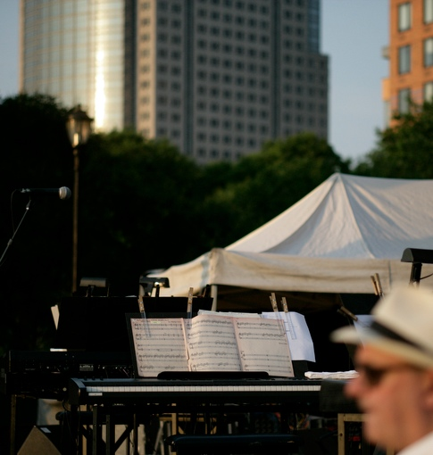 Philip Glass at Rockefeller Park