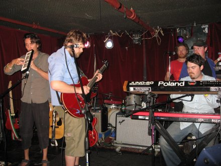 The Phoenix Foundation Soundchecking at The Delancey