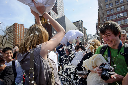 Union Square Pillow Fight