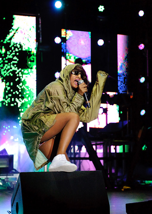 M.I.A. at Virgin Free Fest