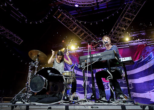 Matt and Kim at Virgin Free Fest