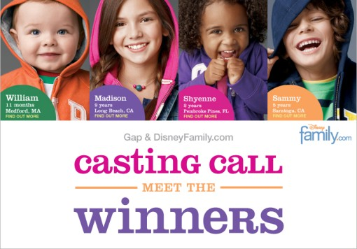Gap Casting Call Winners