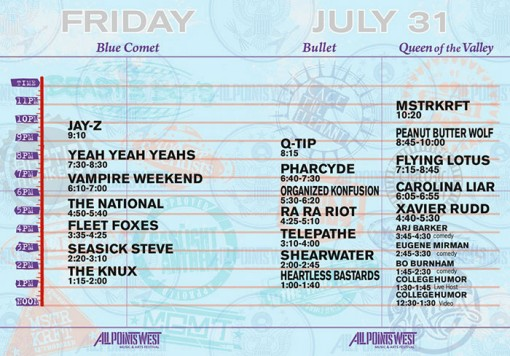 All Points West Festival Friday, July 31