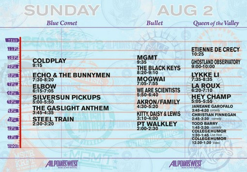 All Points West Festival Sunday, August 2