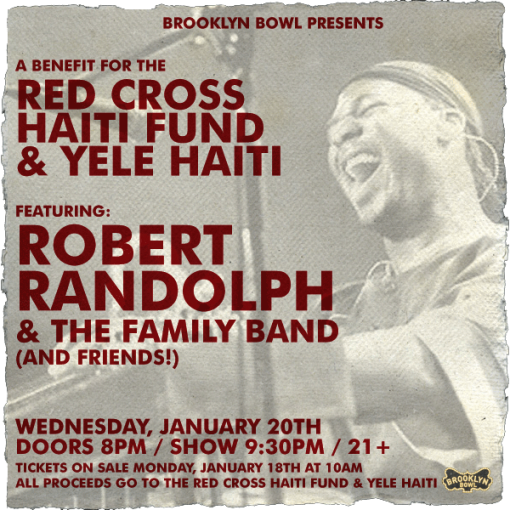 Brooklyn Bowl Benefit w/ Robert Randolph
