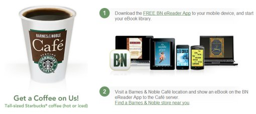 Free Tall Starbucks Coffee From Barnes & Noble