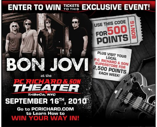 Bon Jovi at P.C. Richard & Son Theater