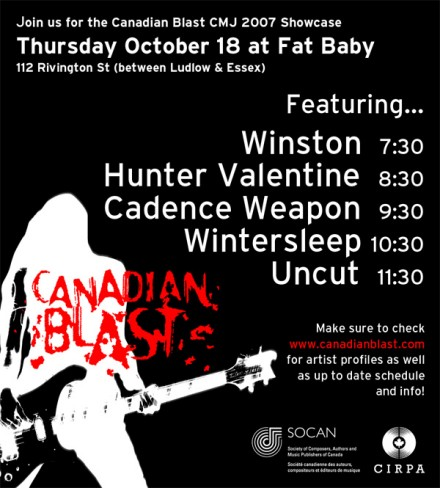 Canadian Blast Showcase Flyer