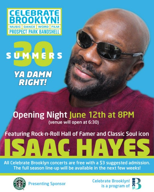 Isaac Hayes at Celebrate Brooklyn
