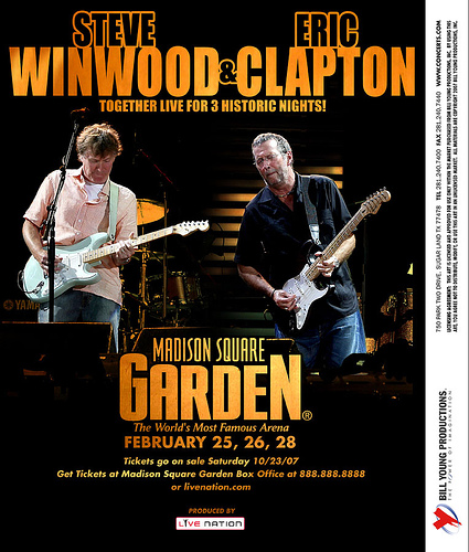 Clapton and Winwood @ MSG