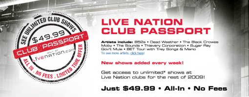 Live Nation Club Passport