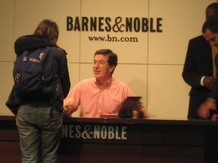 Stephen Colbert at B&N Union Square