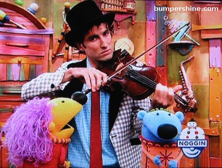 Andrew Bird as Dr. Stringz on Jack's Big Music Show