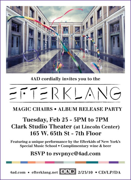 Efterklang CD Listening Party