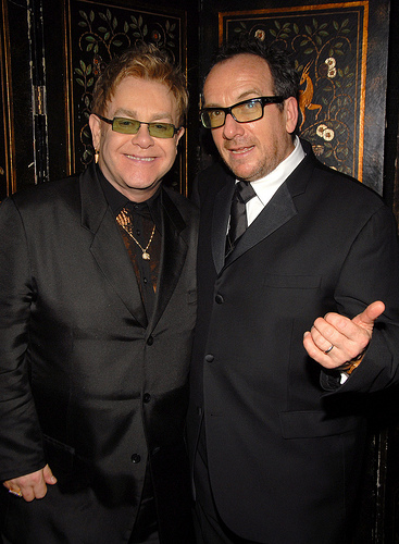 Elvis Costello and Elton John