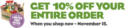 FreshDirect 10% Off
