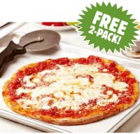 SLICE - Free Grilled Thin Crust Mozzarella Pizza 2 Pk