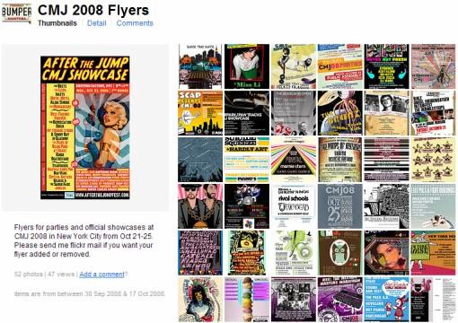 2008 CMJ Flyers
