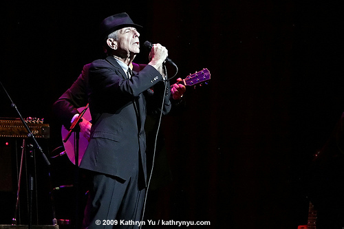 Leonard Cohen at the Beacon Theatre