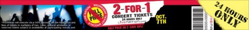Live Nation 2-for-1