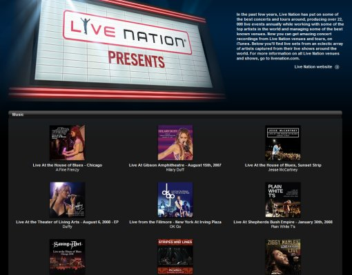 Live Nation Presents on iTunes