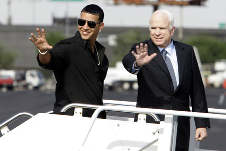 John McCain and Daddy Yankee