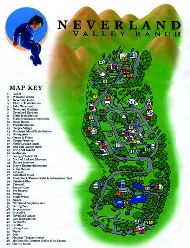 Neverland Ranch Map