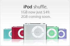 new 2GB iPod Shuffle