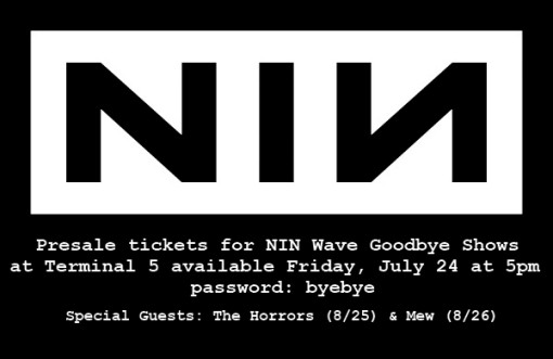 Nine Inch Nails at Teminal 5