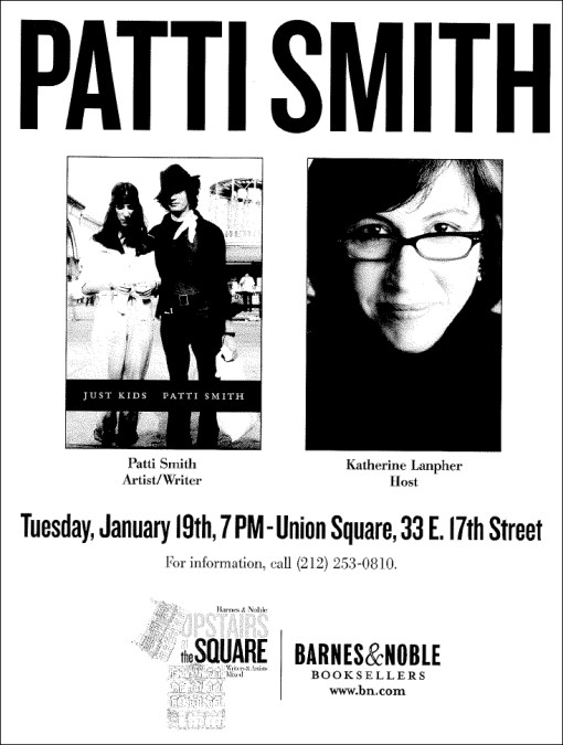 Patti Smith at Barnes & Noble