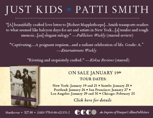 Patti Smith Book Tour