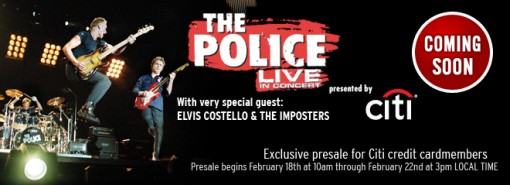 The Police with Elvis Costello