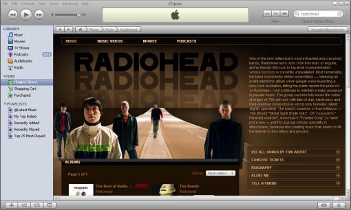Radiohead on iTunes