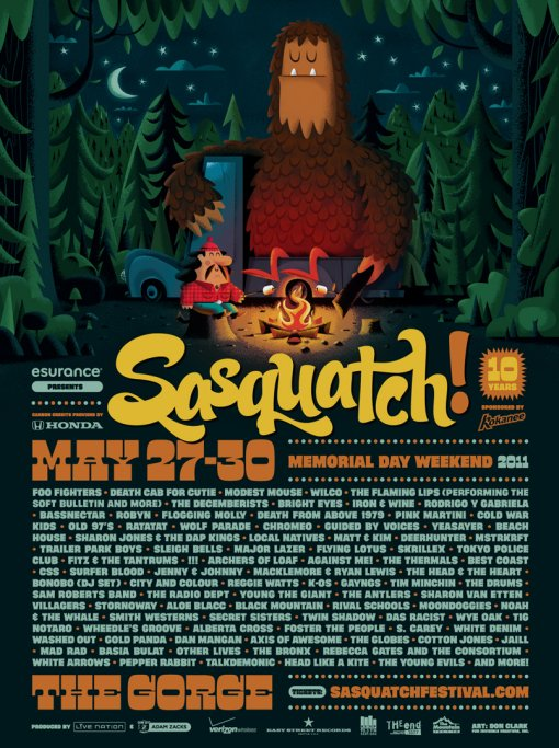 Sasquatch 2011 Poster