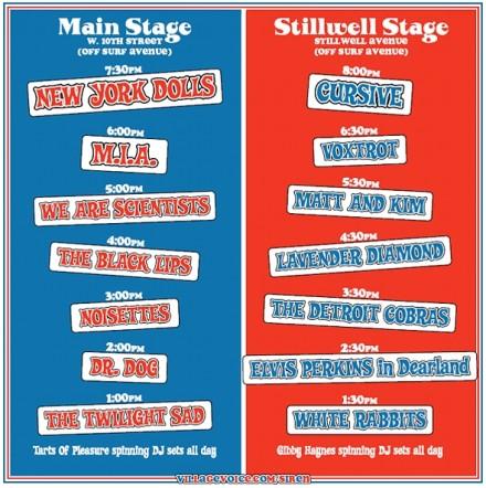 Siren Schedule 2007