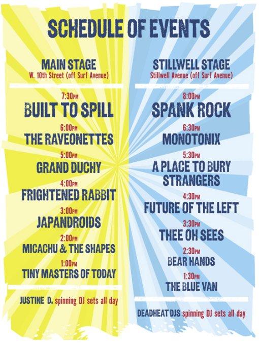 Siren Music Festival Schedule