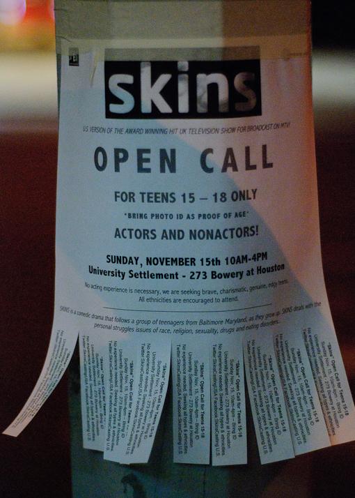 Skins USA Open Casting Call
