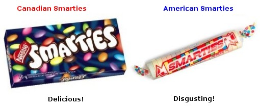 American Smarties are disgusting