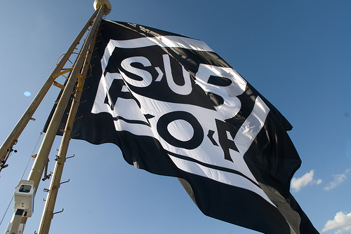 Sub Pop Flag on Space Needle
