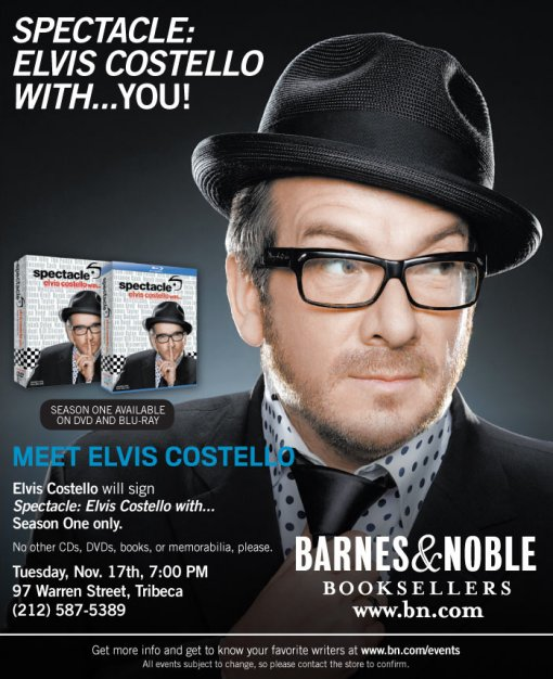 Elvis Costello Spectacle DVD Signing