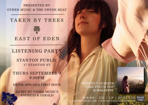 Taken By Trees Listening Party